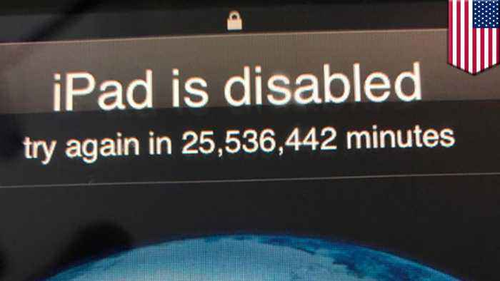 Toddler hilariously locks father's iPad for 48 years