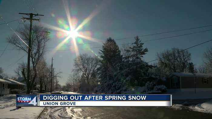 Union Grove residents taking snowfall in stride