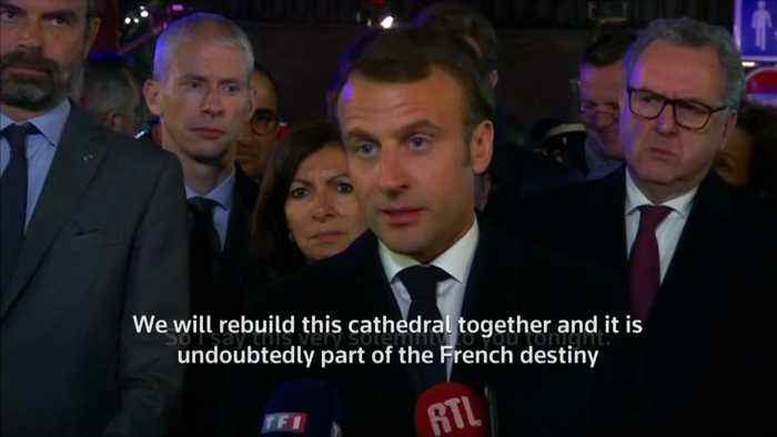 'We will rebuild Notre Dame': French President Macron