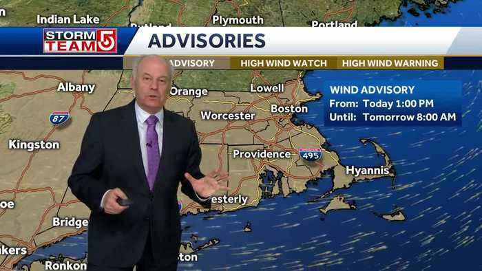 Video: Cold air moving in with wind gusts