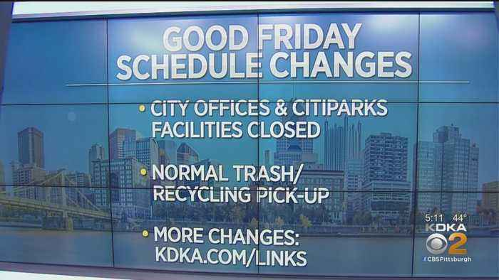City Of Pittsburgh Announces Good Friday Schedule Changes