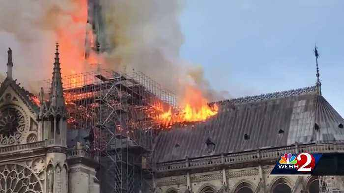 Central Florida mourns after massive fire engulfs Notre Dame Cathedral in Paris