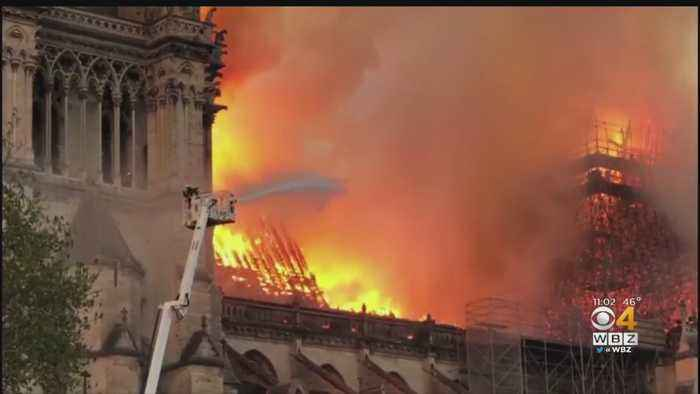 Notre Dame Cathedral Badly Damaged In Fire