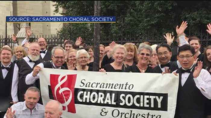 Sacramento Choral Society And Orchesta Members Remember Notre Dame