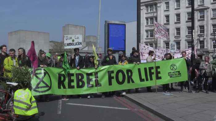 More than 100 arrests amid London climate change protests