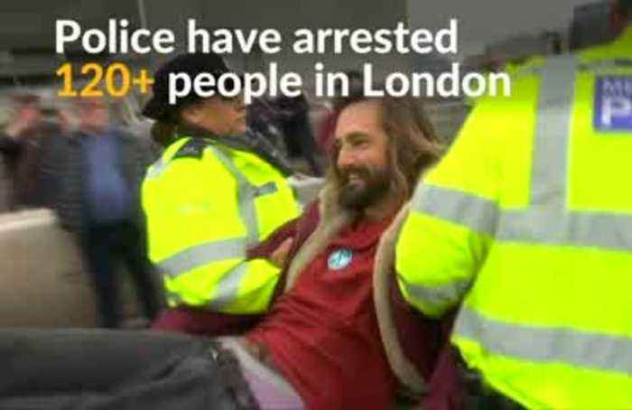 Over 100 climate change activists arrested in London