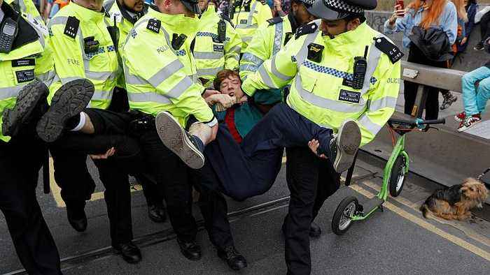 More than 120 arrests as climate activists occupy London landmarks