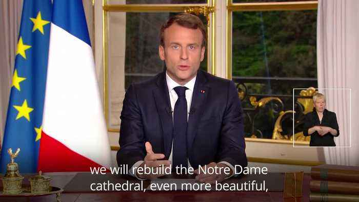Macron: Notre Dame to be rebuilt within five years