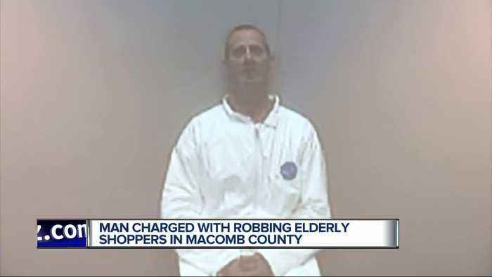 Man arrested for robbing elderly people at Macomb County Walmart parking lot