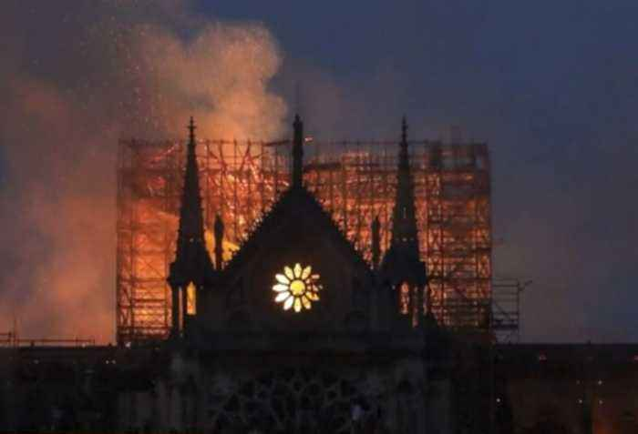 Local Parisians react to fire at Notre Dame