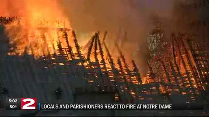 Locals react to fire at Notre Dame Cathedral