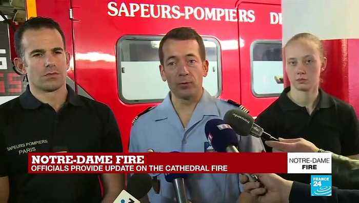 Notre-Dame fire: 'The are trying to make sure the scaffolding will be safely removed'