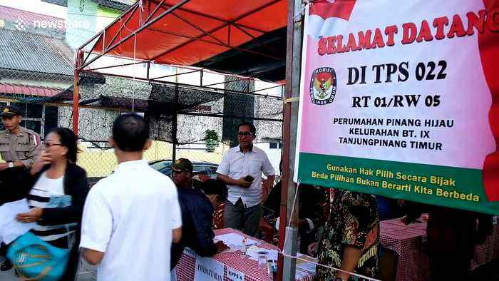 Voters gather at 'world's biggest single-day election' in Indonesia