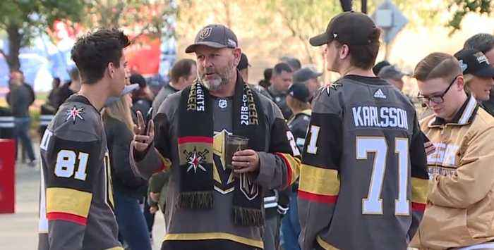Fans enjoy Golden Knights Game 4 victory against Sharks
