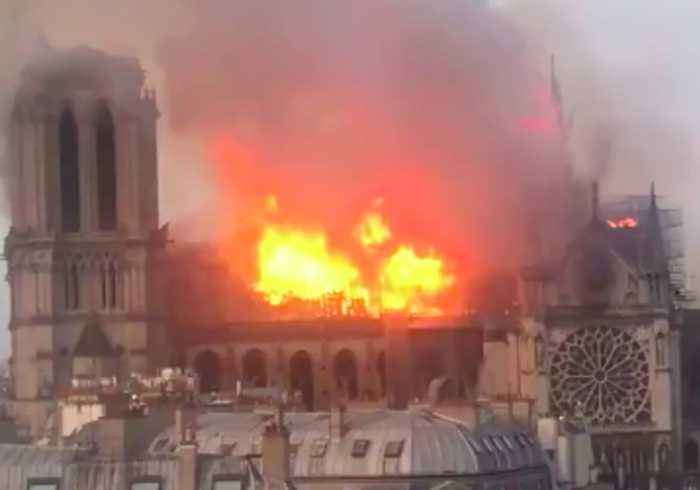 Fire Rips Through Iconic Notre Dame Cathedral in Paris