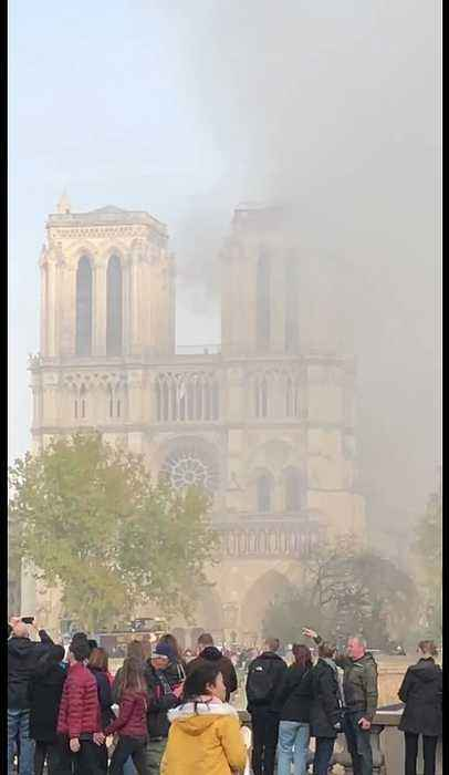 Smoke Seen Pouring From Burning Notre Dame Cathedral