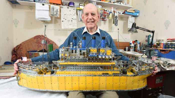 Toytanic! Pensioner Spends Three Years Building Epic Model Of Doomed Ocean Liner Using Nothing But Meccano