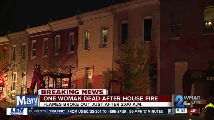 One woman dead in early morning house fire in West Baltimore