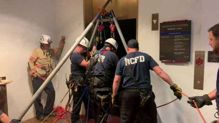 Firefighters Rescue People Trapped in Kennedy Center Elevator
