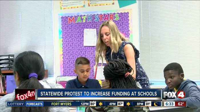 Statewide protest to increase fundings at public schools