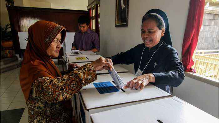 Indonesian President Set To Clinch Second Term
