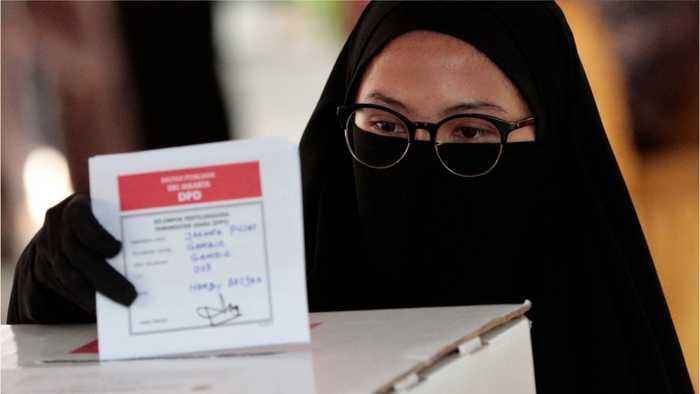 Indonesians Votes In Major Election