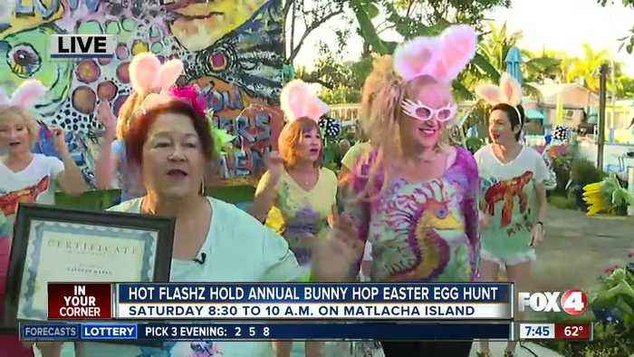 Hot Flashz hold eighth annual bunny hop easter egg hunt for charity - 7:30am live report