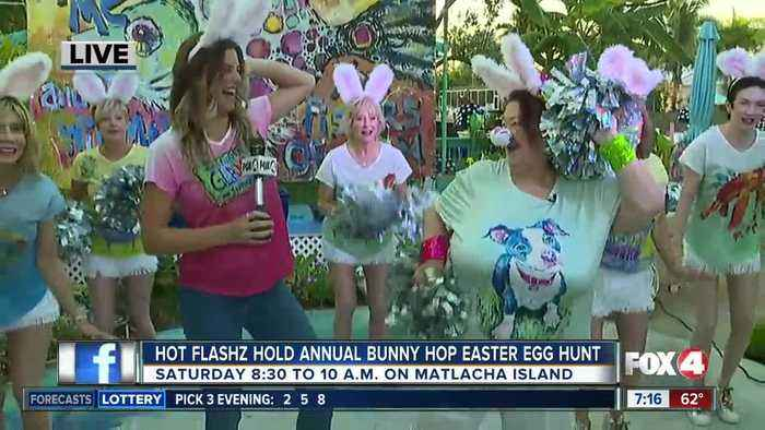 Hot Flashz hold eighth annual bunny hop easter egg hunt for charity - 7am live report