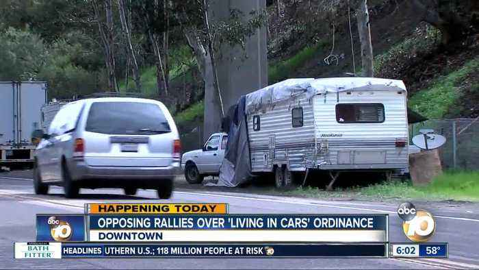 Rallies being held ahead of 'living in cars' ordinance decision
