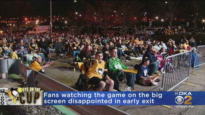 Pens Fans Watching Game On Big Screen Disappointed In Early Exit