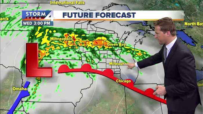 Scattered showers move in later this morning