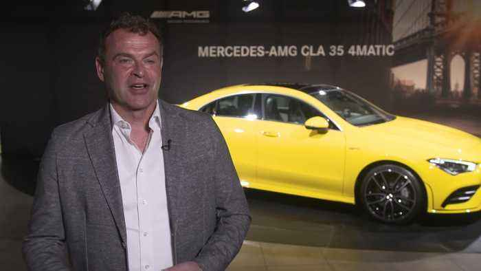 Tobias Moers at the 2019 New York International Auto Show