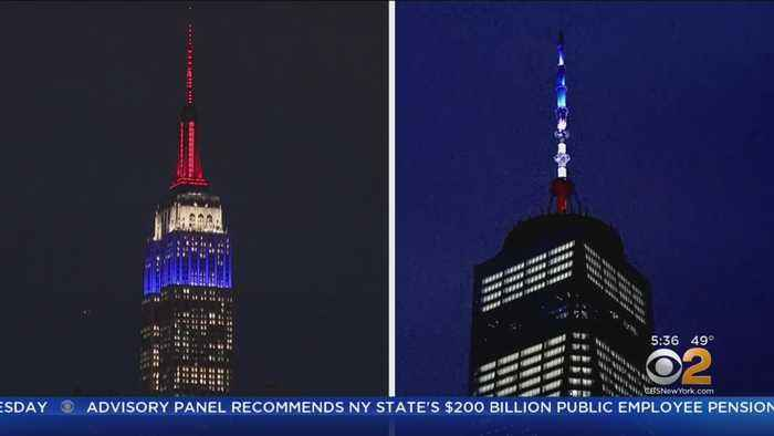 WTC, ESB Show NY's Solidarity With France