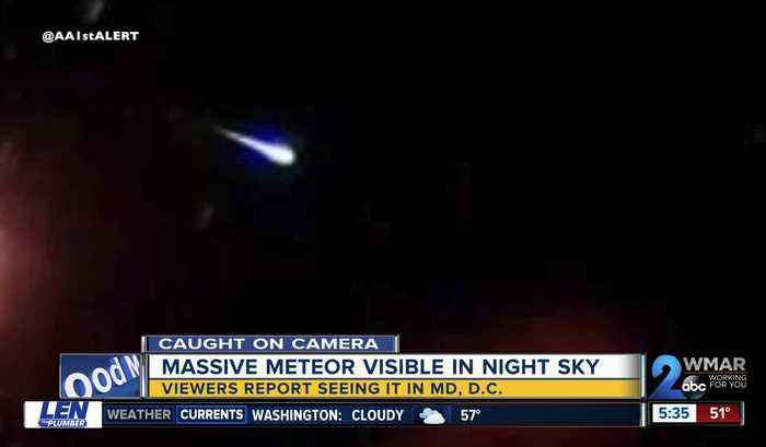 Massive meteor brightens the night sky in parts of Maryland