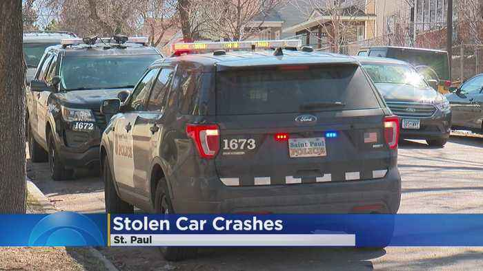 Homeowner, Suspect Arrested In Shooting After Stolen Car Crashes In St. Paul