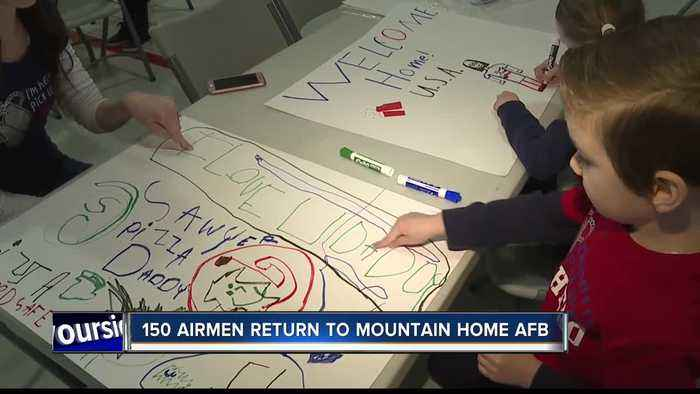 Mountain Home welcomes home 150 'Bold Tigers' from deployment