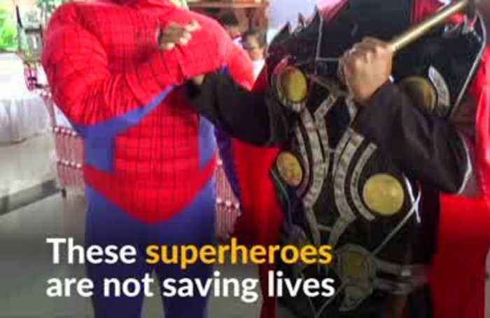 Superheroes encourage voters in Indonesian election