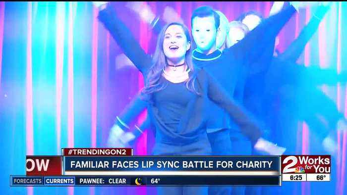 Travis Guillory and Gitzel Puente compete in lip sync battle for charity