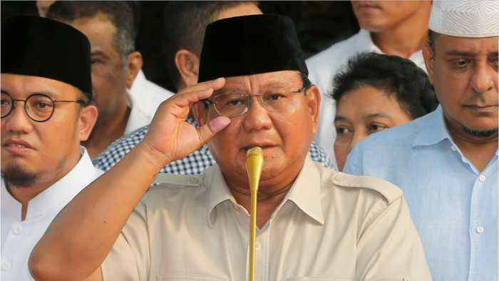 Indonesia's Prabowo Claims Internal Polls Indicate An Election Win