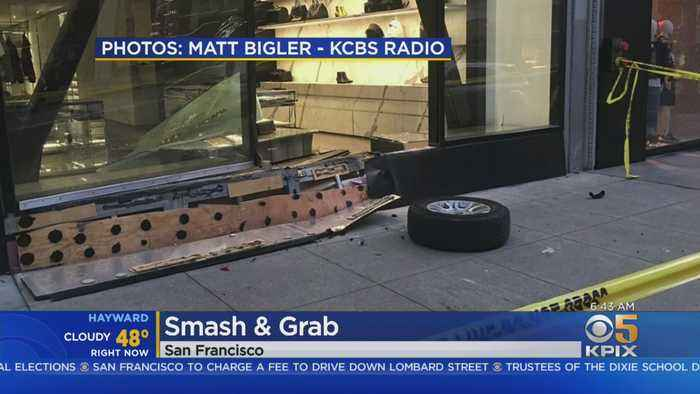 San Francisco YSL Store Window Smashed In Robbery