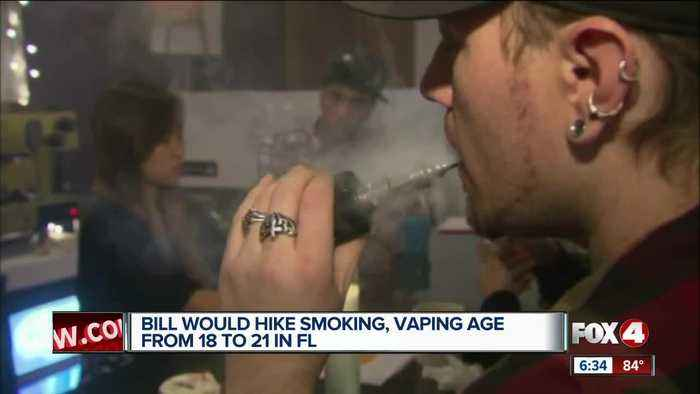 Bill would hike smoking, vaping age from 18 to 21 in Florida