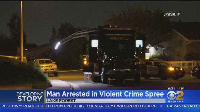 Man Arrested After Bizarre Crime Spree Through Lake Forest, Stabbing Woman