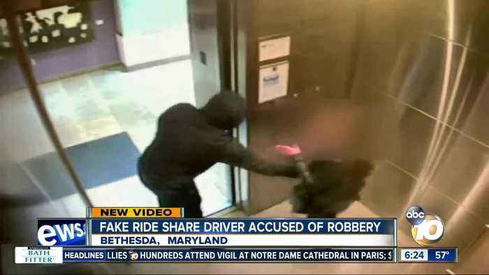 Fake rideshare driver sought in robbery