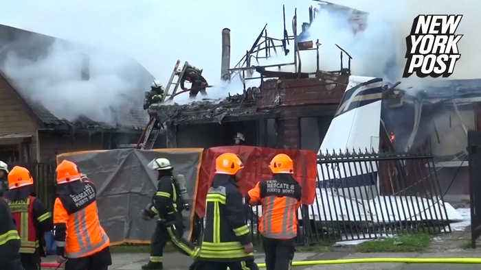 Community devastated after fiery plane crash leaves six dead
