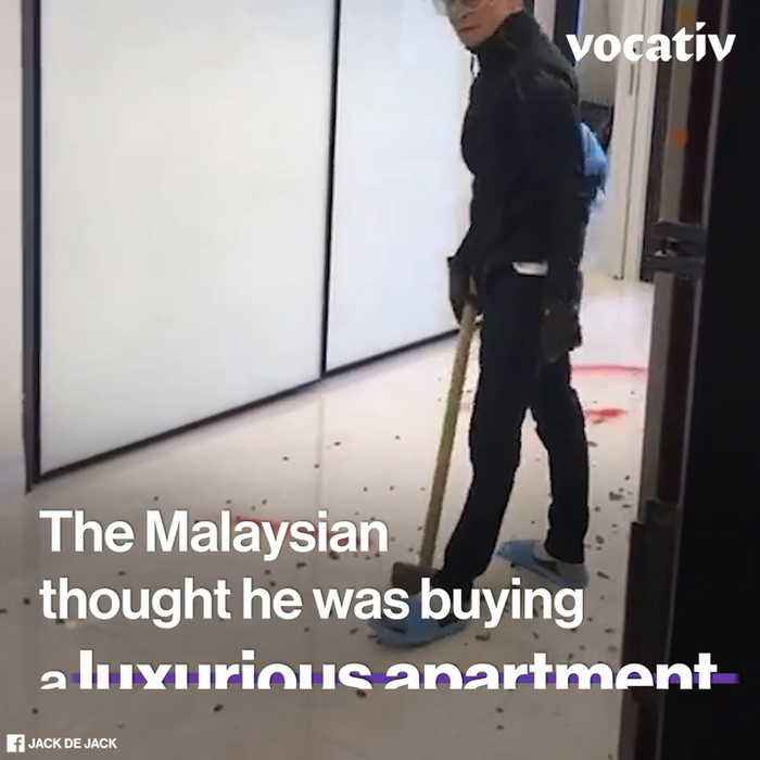 Malaysian Millionaire Destroys His Own 'Luxury' Condo Because Developers Cut Corners