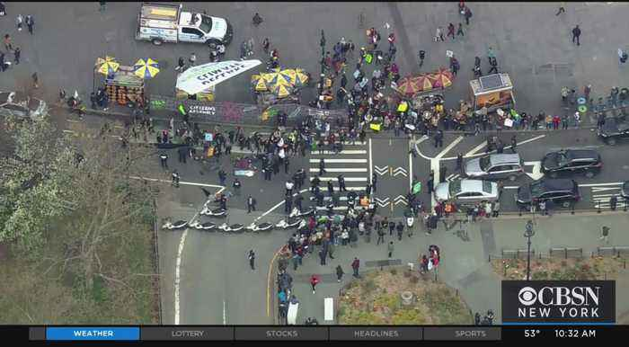 Arrests At Climate Change Demonstration In NYC