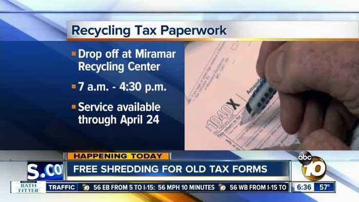 San Diegans can shred old tax forms for free
