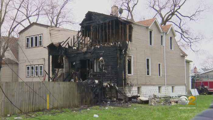 House Catches Fire After Nearby Explosion