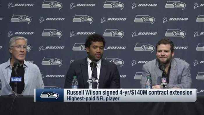 Seattle Seahawks quarterback Russell Wilson's full contract extension press conference