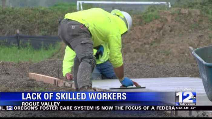 Lack of young skilled workers causes worry for the construction industry.